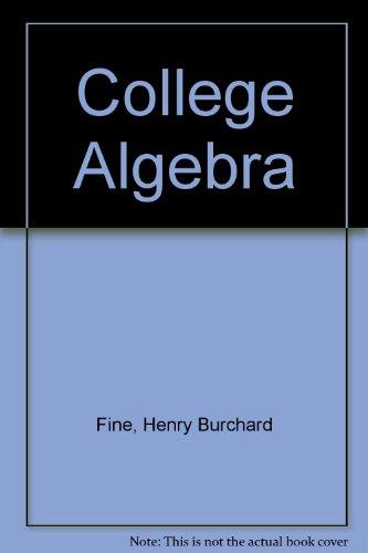 9780486602110: College Algebra