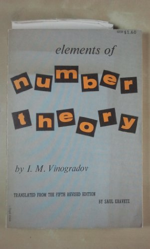 9780486602592: Elements of Number Theory