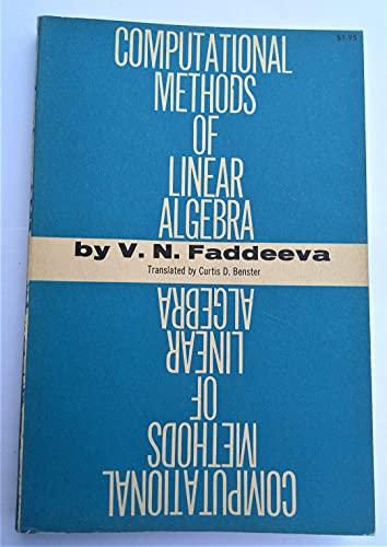 9780486604244: Computational Methods of Linear Algebra