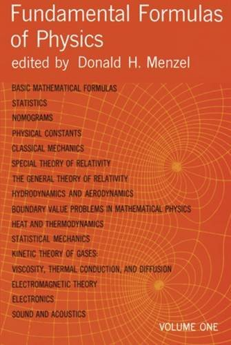 9780486605951: Fundamental Formulas of Physics: 001