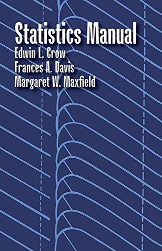 Statistics Manual (Dover Books on Mathematics): Crow, Edwin L.;