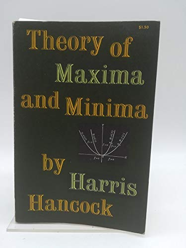 Theory of Maxima and Minima: Hancock, Harris