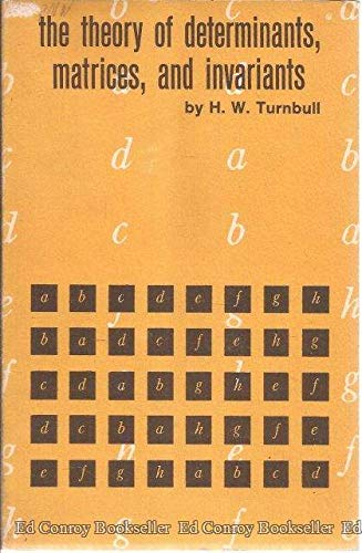 9780486606996: Theory of Determinants, Matrices and Invariants
