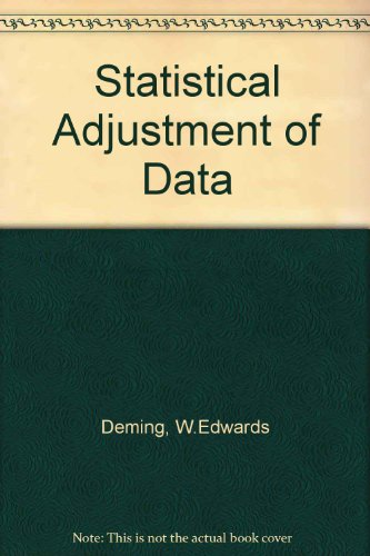 9780486612355: Statistical Adjustment of Data (Dover Books on Mathematics)