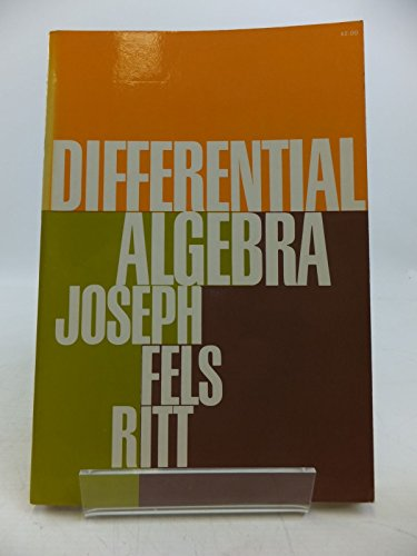 9780486616667: Differential Algebra