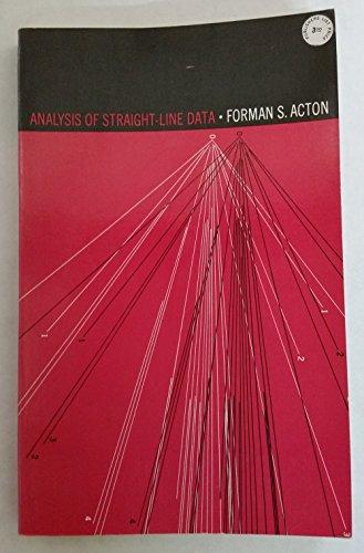 9780486617473: Analysis of straight-line data.