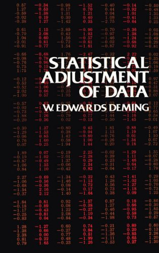 9780486646855: Statistical Adjustment of Data (Dover Books on Mathematics)