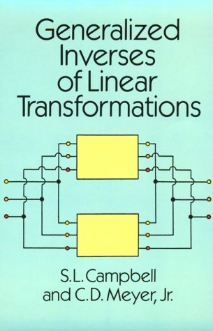 9780486666938: Generalized Inverses of Linear Transformations