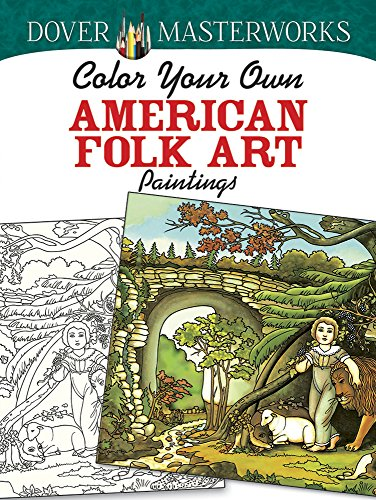 9780486779393: Color Your Own American Folk Art Paintings