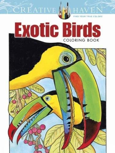 9780486783376: Creative Haven Exotic Birds Coloring Book