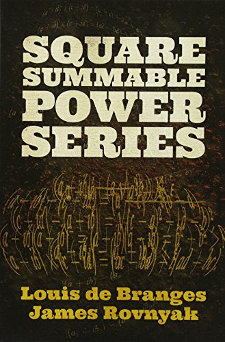 9780486789996: Square Summable Power Series (Dover Books on Mathematics)