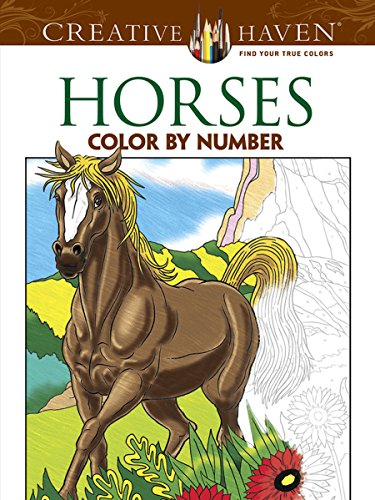 9780486793849: Creative Haven Horses Color by Number Coloring Book (Creative Haven Coloring Books)
