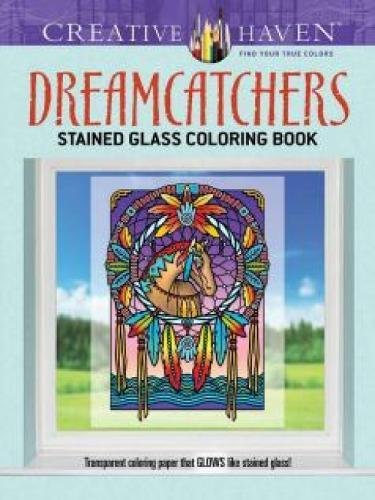9780486796048: Creative Haven Dreamcatchers Stained Glass Coloring Book (Adult Coloring)