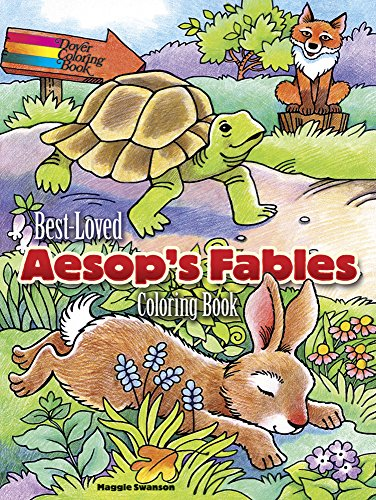 9780486797472: Best-Loved Aesop's Fables Coloring Book
