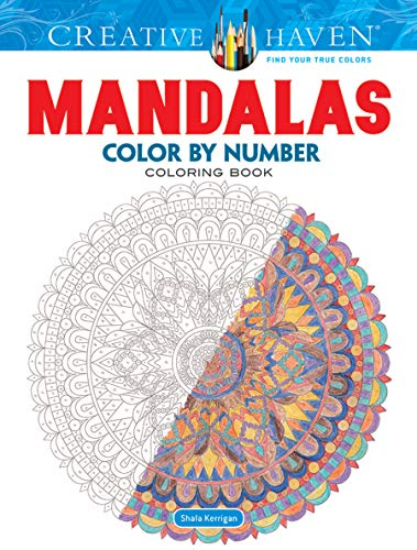 9780486797977: Creative Haven Mandalas Color by Number Coloring Book (Adult Coloring)