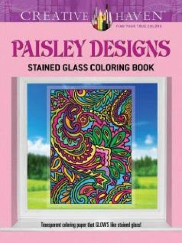 9780486798301: Creative Haven Paisley Designs Stained Glass Coloring Book (Adult Coloring)