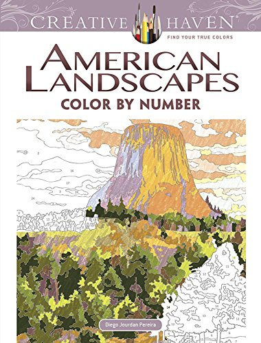 9780486798554: Creative Haven American Landscapes Color by Number Coloring Book (Adult Coloring)