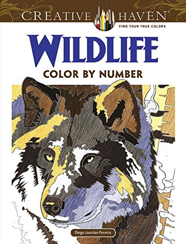 9780486798561: Creative Haven Wildlife Color by Number Coloring Book (Adult Coloring)