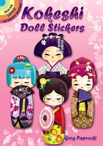 9780486799032: Kokeshi Doll Stickers (Dover Little Activity Books Stickers)