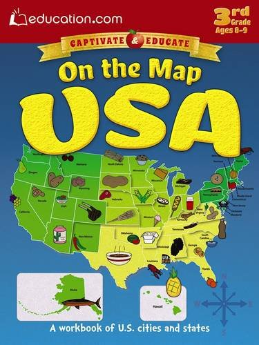 On the Map USA: A workbook of U.S. cities and states: Education.com
