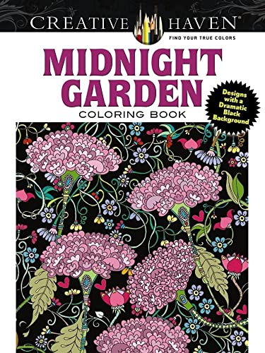 9780486803180: Midnight Garden Adult Coloring Book