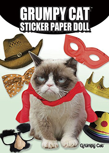 Grumpy Cat Sticker Paper Doll 9780486803203 Dress Grumpy Cat in wacky outfits and let the complaining begin! The Internet sensation will hate it every time you apply the sticker co
