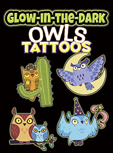9780486803234: Glow-in-the-Dark Tattoos Owls (Dover Little Activity Books)