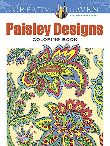 Creative Haven Paisley Designs Collection Coloring Book Marty Noble Kelly