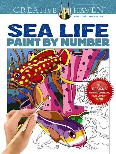 9780486803807: Creative Haven Sea Life Paint by Number (Adult Coloring)