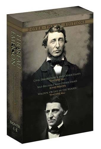 9780486807416: Thoreau and Emerson Boxed Set: Classic Works (Dover Thrift Editions)