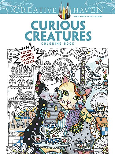 9780486808765: Creative Haven Curious Creatures Coloring Book