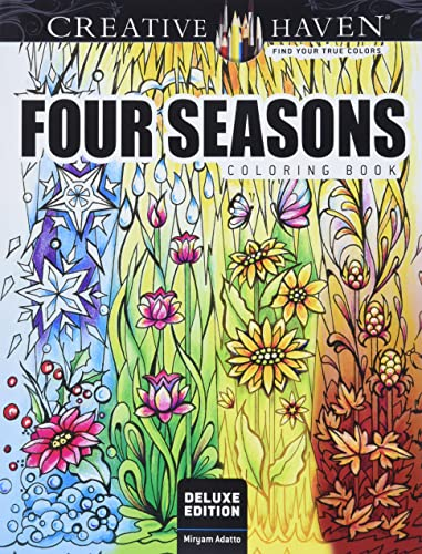 9780486809465: Creative Haven Deluxe Edition Four Seasons Coloring Book (Adult Coloring)