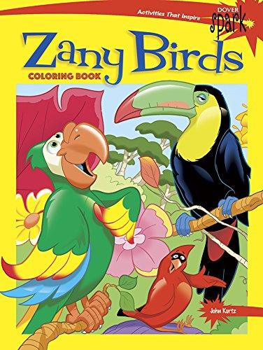 SPARK Zany Birds Coloring Book (Paperback): John Kurtz