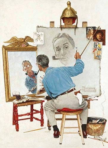 Norman Rockwell's Triple Self-Portrait from The Saturday: Rockwell, Norman