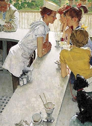 Norman Rockwell's The Soda Jerk from The: Rockwell, Norman