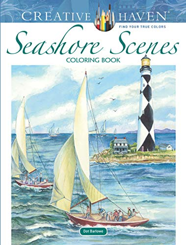 Creative Haven Seashore Scenes Coloring Book (Paperback)