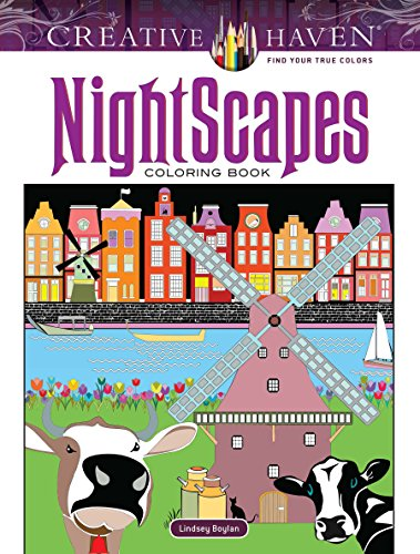 Creative Haven NightScapes Coloring Book (Adult Coloring): Boylan, Lindsey