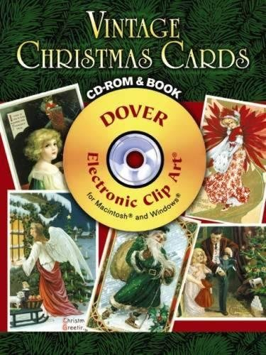 9780486990163: Vintage Christmas Cards CD-ROM and Book (Dover Electronic Clip Art)