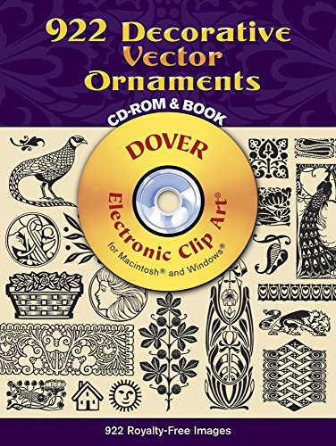 9780486990217: 922 Decorative Vector Ornaments CD-ROM and Book (Dover Electronic Clip Art)