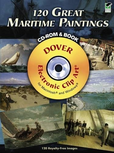 9780486990378: 120 Great Maritime Paintings CD-ROM and Book (Dover Electronic Clip Art)