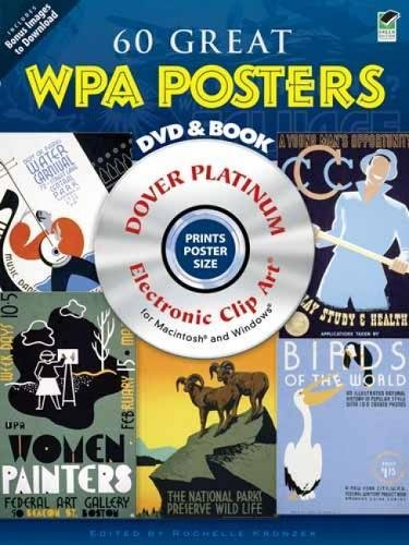9780486990750: 60 Great WPA Posters Platinum DVD and Book (Dover Electronic Clip Art)