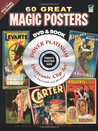 9780486991030: 60 Great Magic Posters Platinum DVD and Book (Dover Electronic Clip Art)