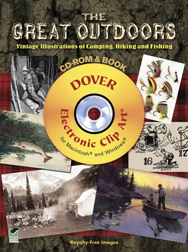 9780486992129: The Great Outdoors CD-ROM and Book: Vintage Illustrations of Camping, Hiking and Fishing (Dover Electronic Clip Art)