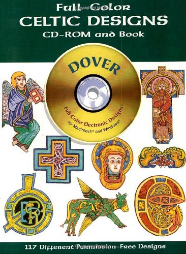 9780486995151: Full-Color Celtic Designs CD-ROM and Book (Dover Electronic Clip Art)