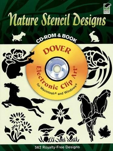 9780486995182: Nature Stencil Designs (Dover Electronic Clip Art) (CD-ROM and Book)