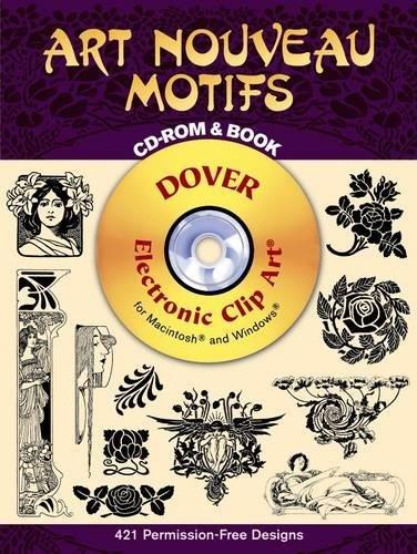 9780486995199: Art Nouveau Motifs CD-ROM and Book (Dover Electronic Clip Art)