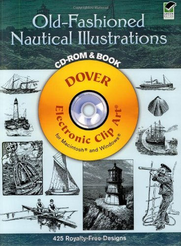 9780486995298: Old-Fashioned Nautical Illustrations (Dover Electronic Clip Art) (CD-ROM and Book)