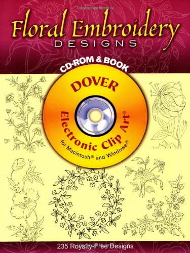 9780486995366: Floral Embroidery Designs (Dover Electronic Clip Art)