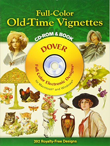9780486995403: Full-Color Old-Time Vignettes CD-ROM and Book (Dover Electronic Clip Art)
