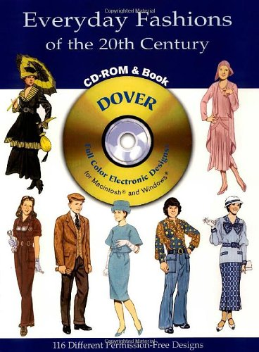9780486995441: Everyday Fashions of the 20th Century CD-ROM and Book (Dover Pictorial Archives)